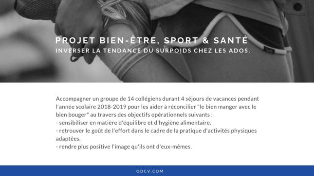 Projet Sport Santé & Bien-être | Surpoids chez les jeunes : inverser la tendance.