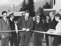 1970 - Inauguration du Chalet des Aiguilles (Archives départementales de la Corrèze)