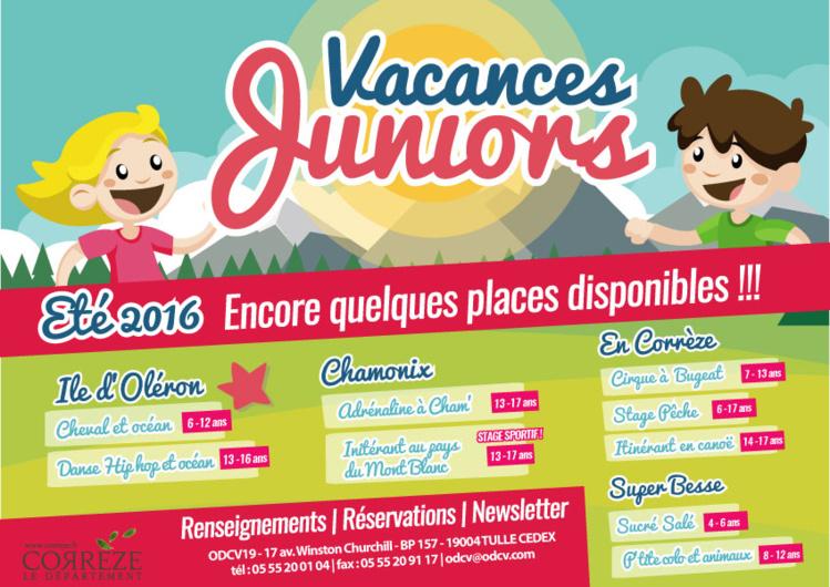 Vacances Juniors été 2016