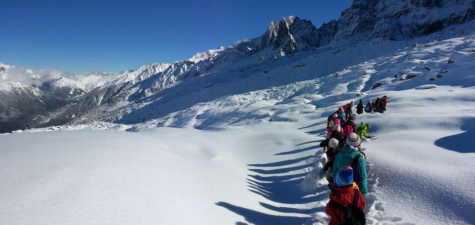 Classes de neige ou montagne à Chamonix Mont-Blanc