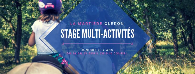 La Martière Oléron à Pâques - Stage Multi-activités  [7-12 ans]